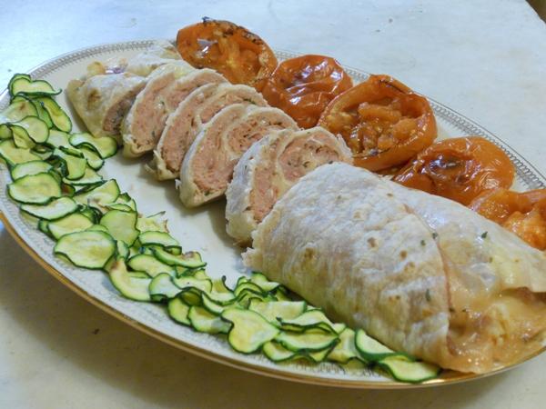 Rotolo di piadina con verdure grigliate