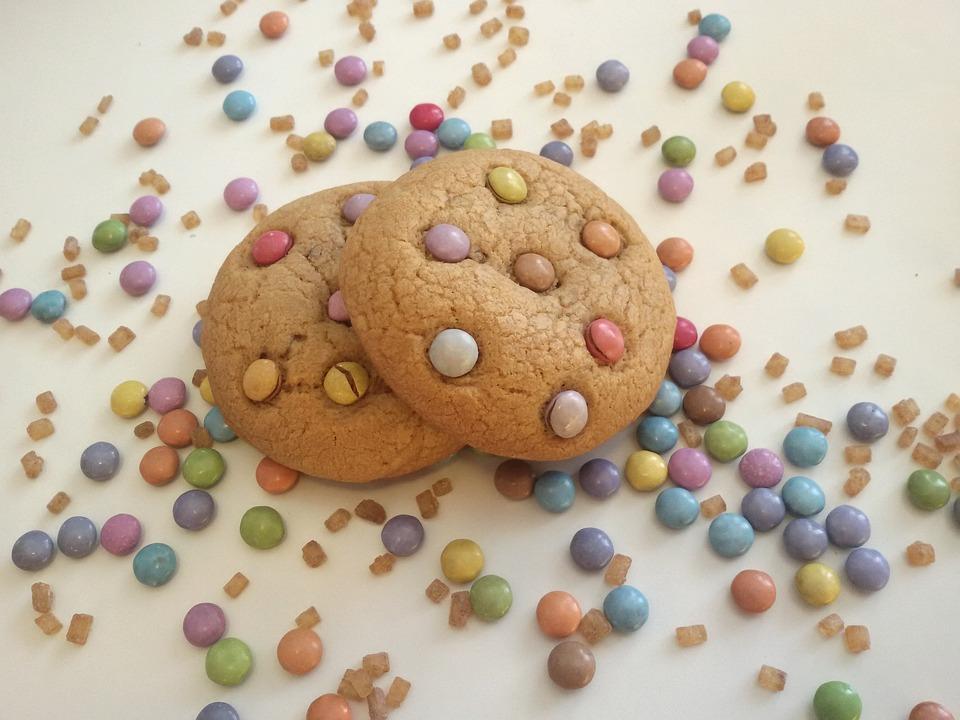 Biscotti con Smarties al cioccolato