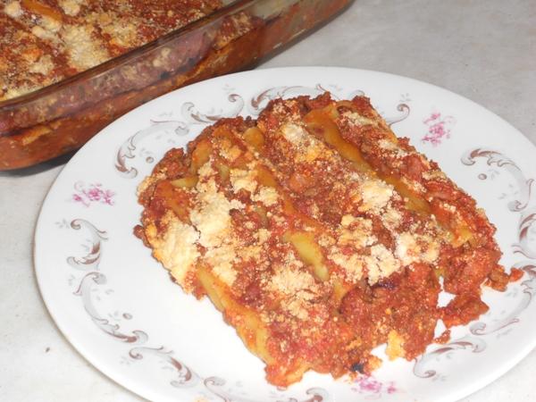 Cannelloni ripieni di carne senza besciamella