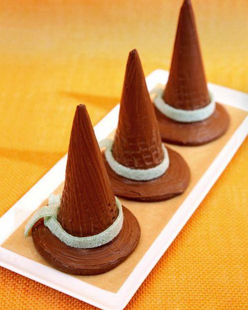 Cappelli della strega al cioccolato