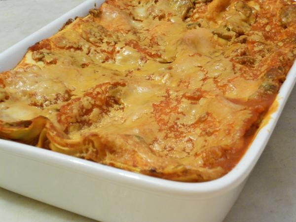Lasagne al ragù di melanzane e ricotta salata affumicata