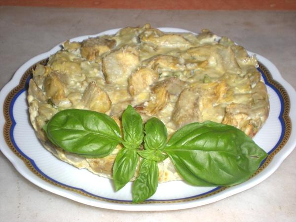 Pasticcio di carciofi al forno con basilico