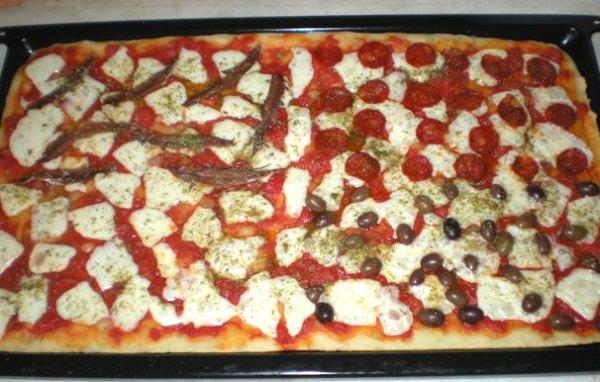 Pizza ai quattro sapori