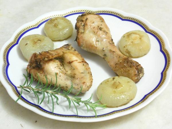 Pollo con cipolline borettane