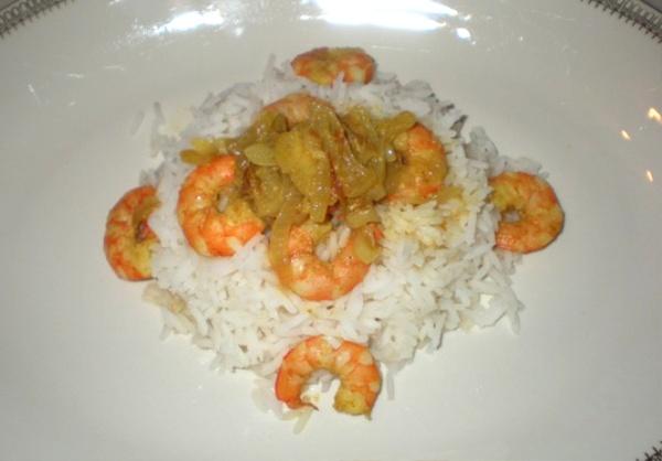 Riso Basmati con gamberi speziati al Curry
