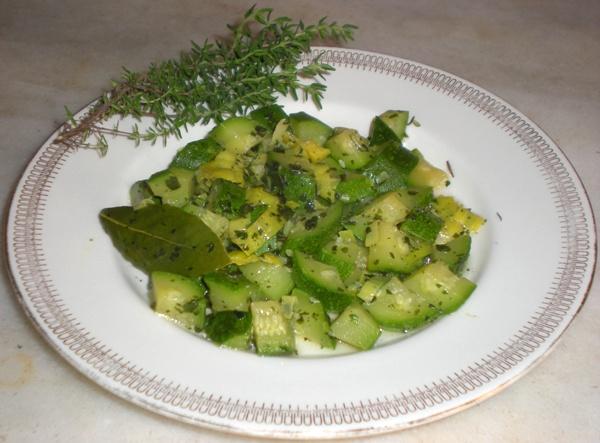 Zucchine trifolate al timo