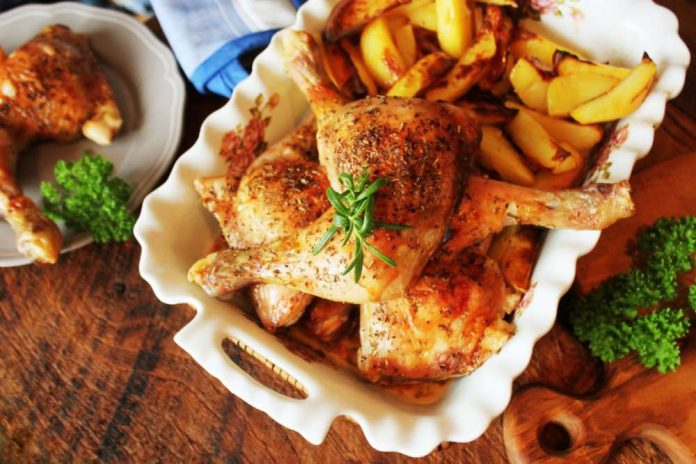 ricetta pollo con patate
