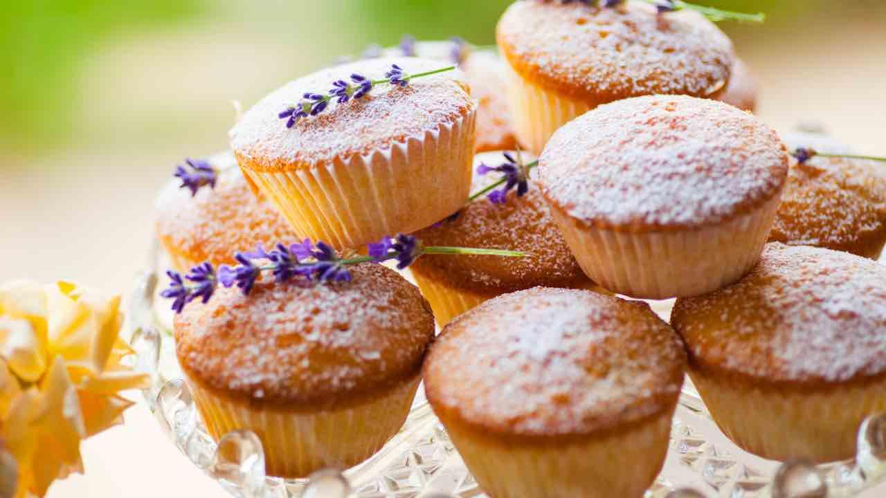 ricetta muffin alla lavanda