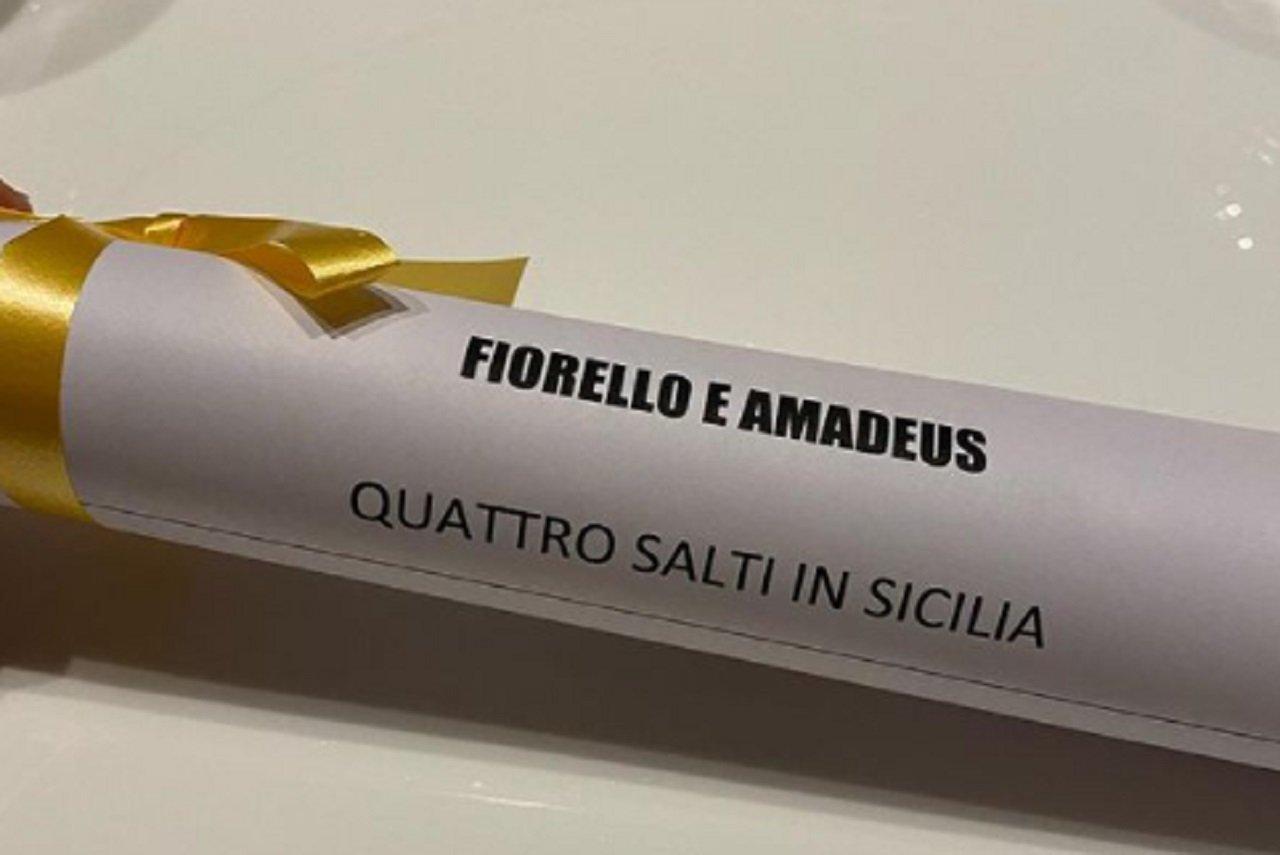 Cena Fiorello Amadeus